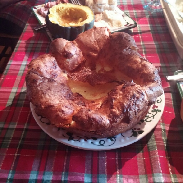 We have a simple traditional Christmas dinner that includes 'Roast Beast' and Yorkshire Pudding.  It came out so wonderful this year!